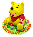 Yellow Bear Cake