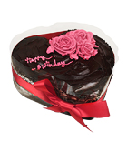 Chocolate Heart Red Rose