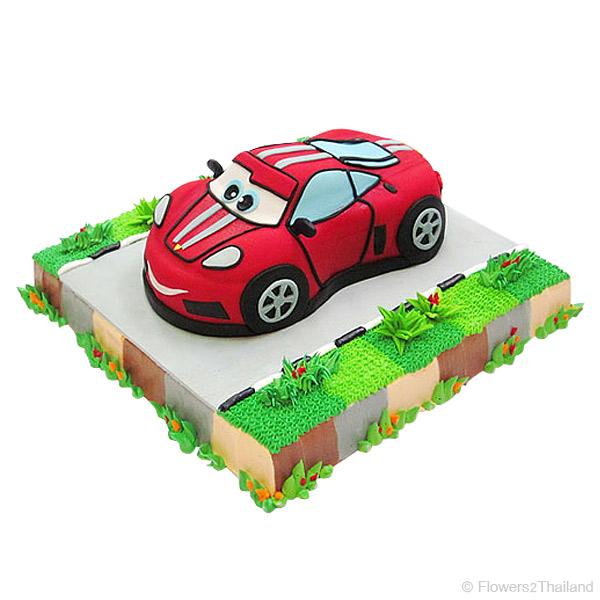 Red Ferrari Cake - ????/?????? ?????????????????????? ...